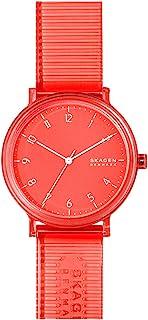 Skagen Aaren Men's Pink Dial PU Leather Analog Watch - SKW6603