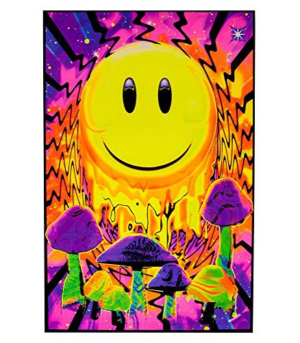 Opticz Have a Nice Trip Flocked Blacklight Poster 23 x 35in