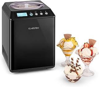 KLARSTEIN Vanilla Sky - Machine à crème glacée, Prête en 10 à 60min, Compresseur, Pas de congélation l'avance, Verre doseu...