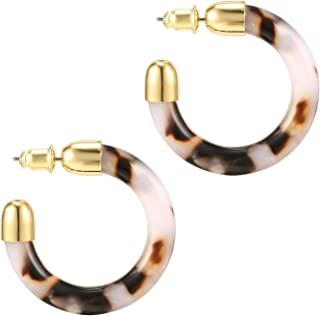 PAVOI 14K Gold Plated Acrylic Earrings for Women - Statement Resin Earrings | Summer Earrings for Women