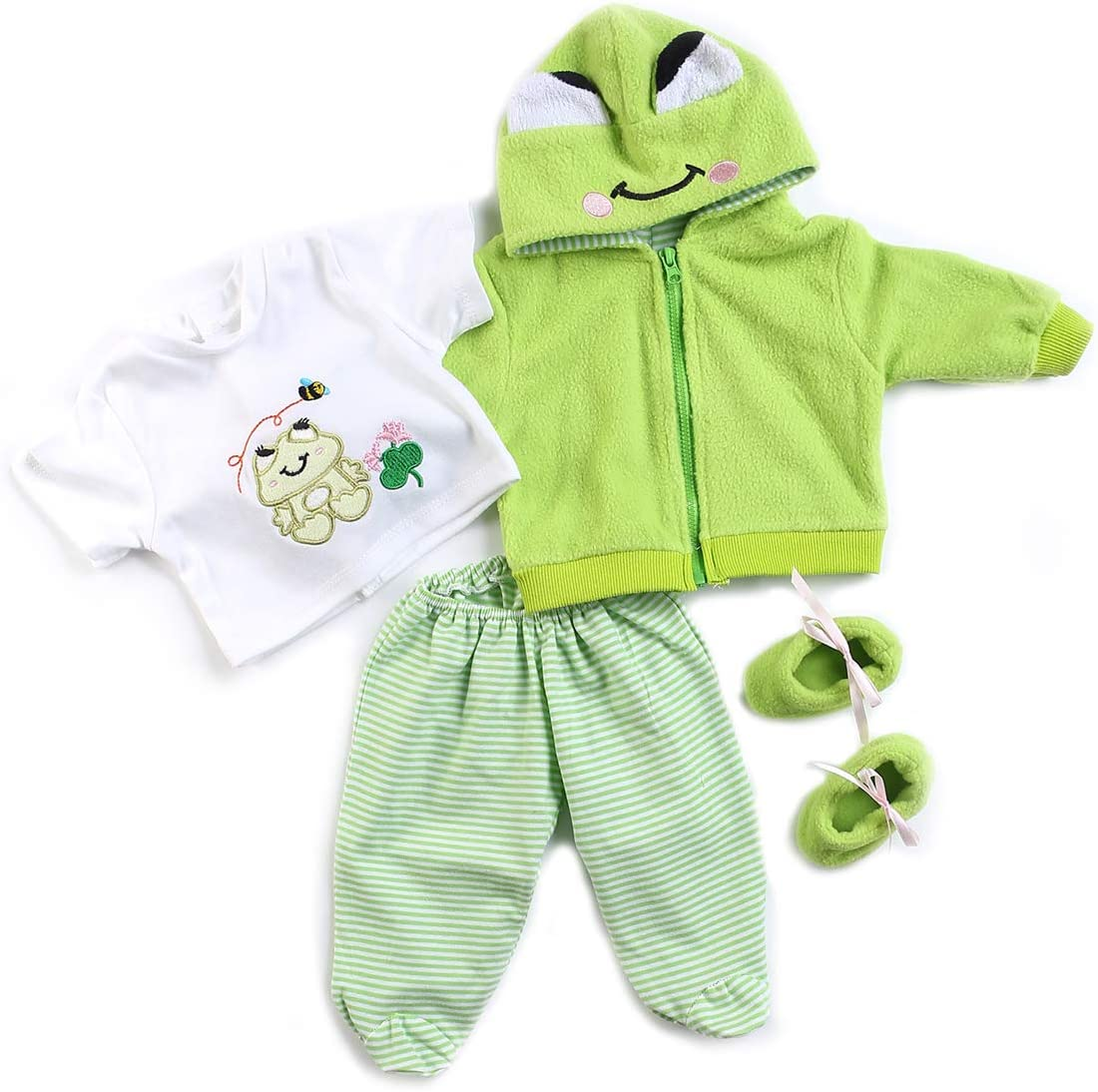 Medylove Reborn Baby Dolls Super beauty product restock quality top! Clothes Green for 20-23inch Suit Rebo Regular discount