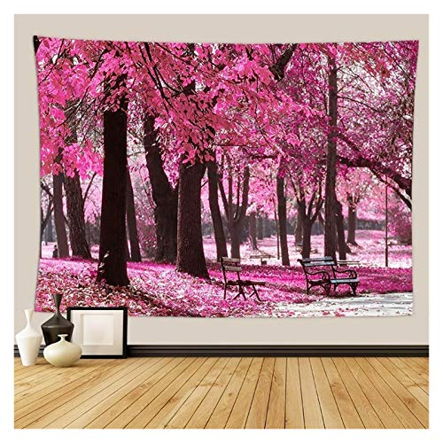 Nostalgie Tapiz Pared Cherry Blossoms Fantasy Tapices Tapicura Hippie Dormitorio Decoración Psicodélico Tapicería Macrame Mandala Tapicería Colgar en la Pared (Color : 15, tamaño : 2000 MMX1500 MM)