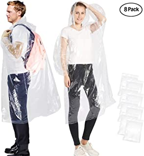 EnergeticSky EVA Portable Raincoat,Reusable Rain Poncho with Hoods and Sleeves,Non-Toxic,No Plastic Smell,Environmentally Friendly,Light Weight and Perfect for Outdoor Activities