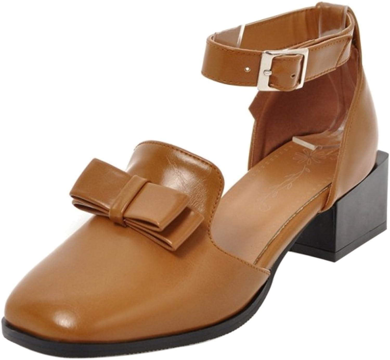 FizaiZifai Women Ankle Strap Sandals Mid Heel