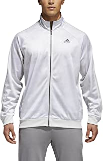 Men's Essentials 3-Stripe Tricot Track Jacket,Greone,X-Large