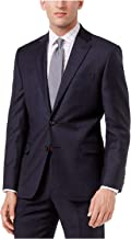 LAUREN RALPH LAUREN Men's Ultra Flex Suit Jacket in Plaid Navy Blue