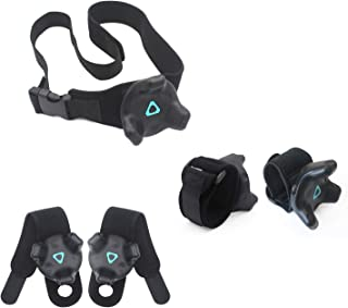 AMVR VR Tracker Straps,Adjustable Waist Belt and Wrist Hand & Palm Straps Full Body Tracking VR Bundle for HTC Vive System...