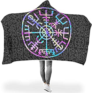 B5TDF-9 Bat Blanket Theme Printed Lightweight Super Cozy Hoody Blanket - Two Sizes Fits Adults Use White 50x60 inch