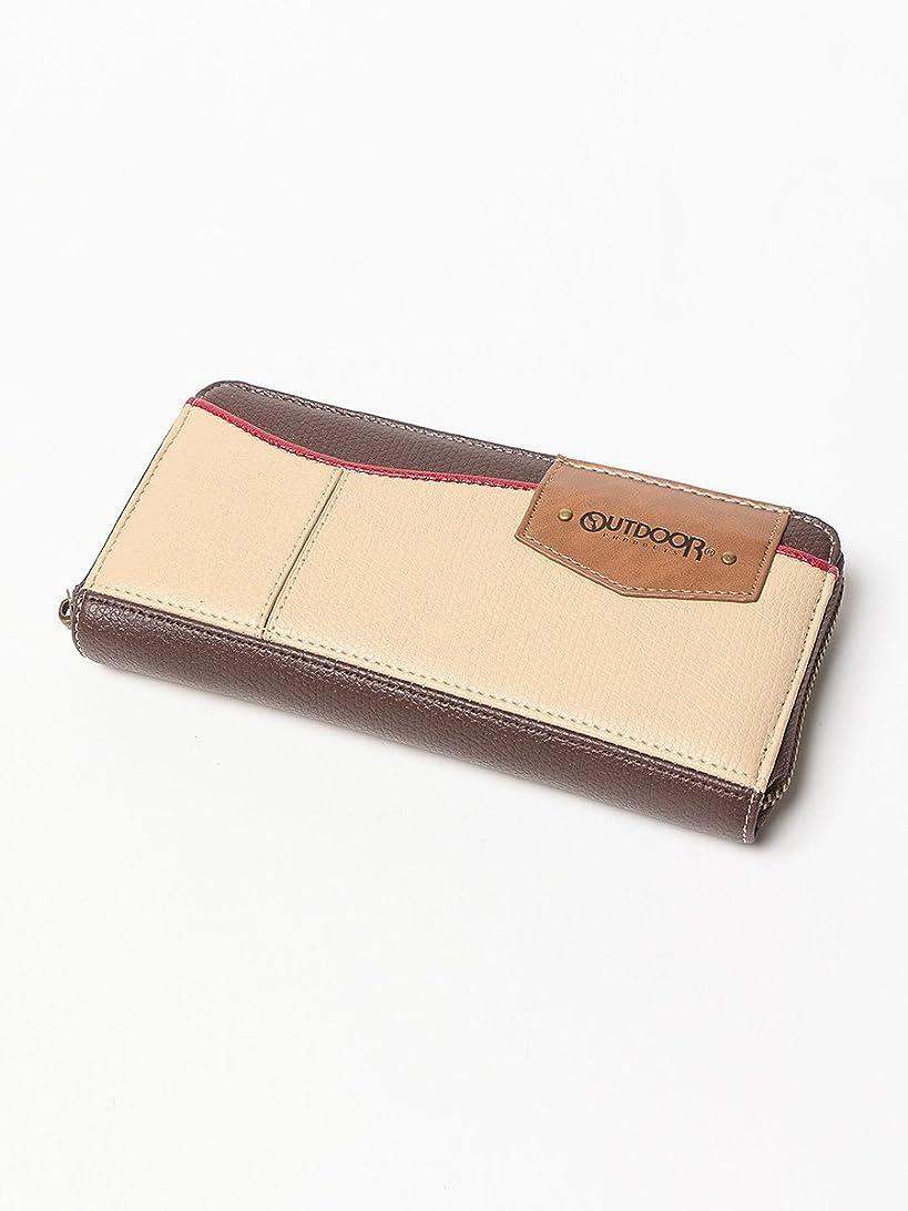 アノイ池処理(アウトドアプロダクツ) OUTDOOR PRODUCTS フェイクレザー ウェーブデザイン ICカード入れ付き ラウンドジップ 長財布
