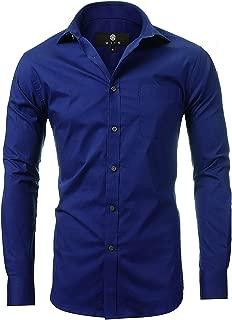 diig Dress Shirt for Men - Slim Regular Fit Work Shirt, White Red Blue XS M 2 XL