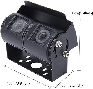 Cámara de marcha atrás Accesorios for el coche de doble cabezal universal de 720 × 540 píxeles eficaz 50Hz PAL/NTSC 60 HZ impermeable del CCD de la cámara del coche Monitor de seguridad con las lámp