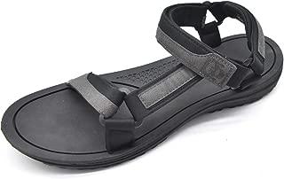 KUAILU Mens Adjustable Sandals Flat Cushion Arch Support Wide Comfort Lightweight Sandals Summer Sea Beach Walking Shoes