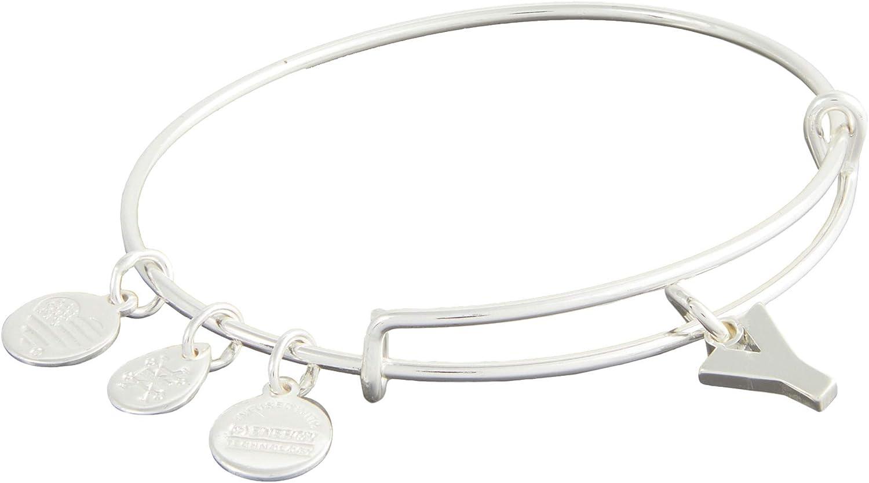 Alex and Ani Initial Y III Bangle Bracelet