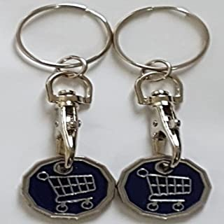 2 x Trolley Token Cat Butterfly Keyring £1 Coin Black Shopping Gift Charm Token