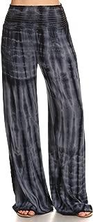 Womens Palazzo Pants Tie Dye Boho Gauze Casual & Lounge Wide Leg Bottoms S-XL