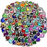 ZSWQ 200 Pegatinas de Among Us Adhesivos de Anime para niños para Ordenadores portátiles, Botellas de Agua, Fundas de Viaje, Pared, monopatín, Moto, teléfono, Bicicleta, Equipaje o Guitarra