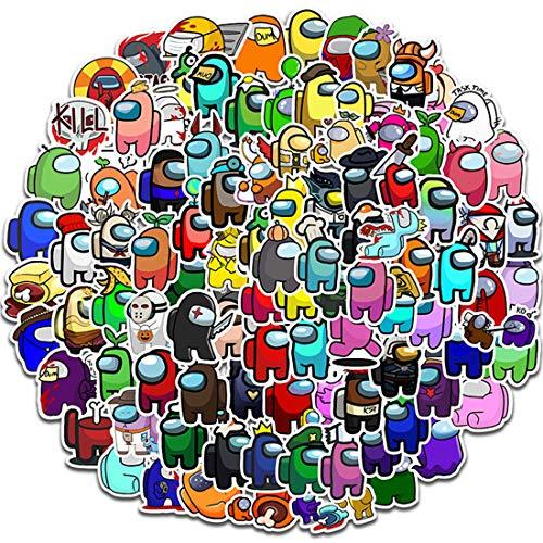 ZSWQ 200 Adesivi Among Us Adesivi per Cartoni Animati Impermeabili, a Prova di Luce Solare per Bottiglie d'Acqua, Laptop, Skateboard, Auto, Moto, Bicicletta, PS4, Valigetta, Snowboard iPhone