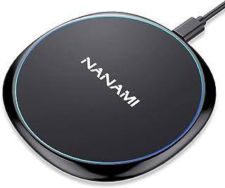 NANAMI ワイヤレス充電器 Qi認証 iPhone SE(第2世代)/11/11 Pro/11 Pro Max/XS/XR/X/8 AirPods 2/Pro Galaxy S20/S10 LG Sony Xperia 1 Ⅱなど qi機種...