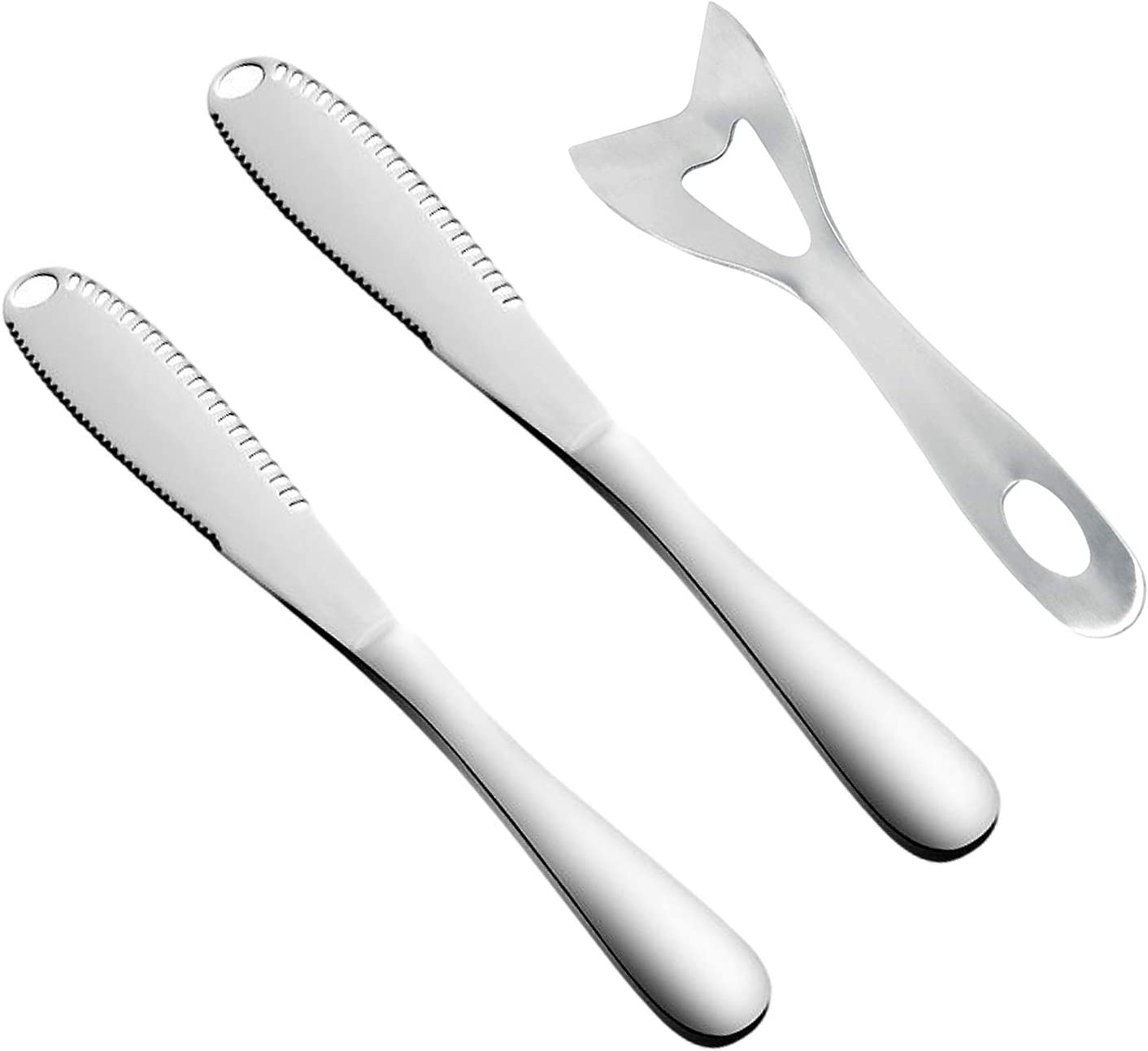 3Pcs Butter Knife Stainless Steel Spreader 3 1 Max 48% OFF in Mult Max 51% OFF
