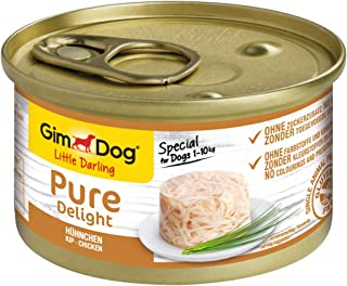 GimDog Pure Delight Chicken / Protein-rich snack in delicious jelly / Specially for dogs weighing up to 10 kg / No added sugar / 1 can (1 x 85 g)