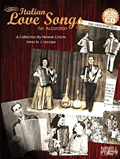 Italian Love Songs for Accordion with CD (English and Italian Edition)
