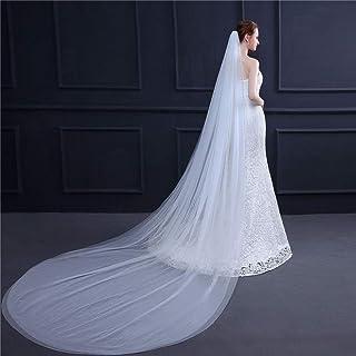 2T Bridal Veil Cathedral Drop Veil Long Bride Chapel Wedding Accessories For Brides 0606 yynha (Color : Ivory)