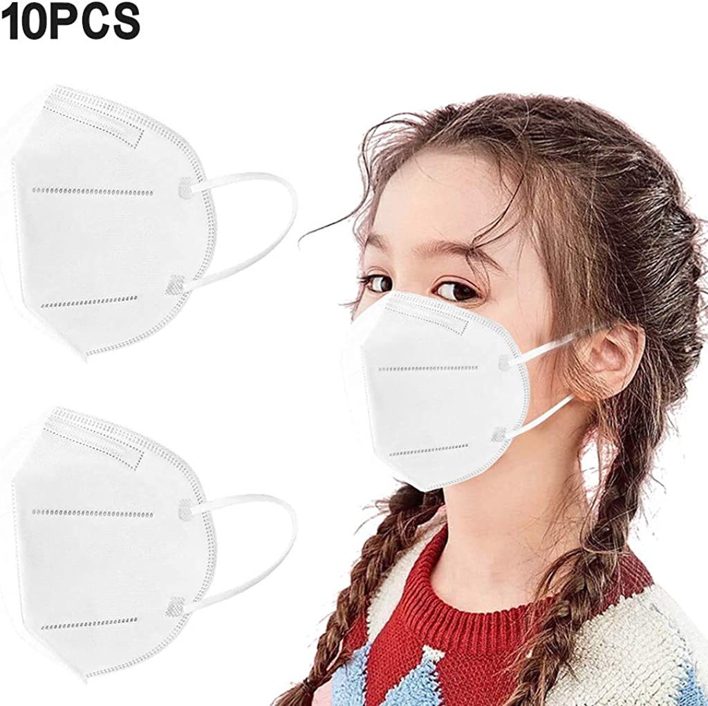 SDCAJA 10//20//25//50//100 St/ück Kinder Mund-Nasen Bedeckung Atmungsaktiv Stoff Bandana Halstuch Schals Mund-Nasen-Schutz mit Nasenclip