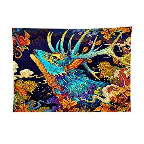WFSH Tapiz para sofá, lona de fondo, tela para decoración de dormitorio (color: C, tamaño: 200 x 148 cm)