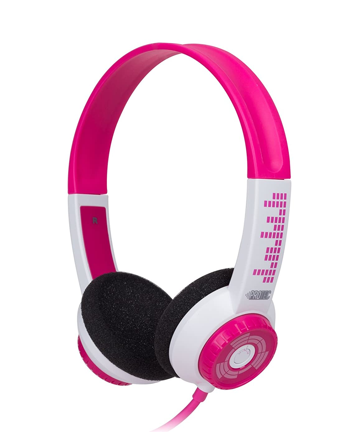 FSL Protec Kids Headphones with Adjustable Volume Limiting (Pink)