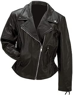 Rocky Mountain Hides Solid Genuine Buffalo Leather Ladies Jacket Gathered Sides GFLMJPK XL