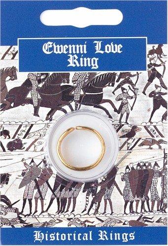 Historischer Ring - Ewenni Love Ring - Feines Englisches Zinn - vergoldet - Replica