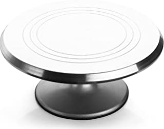 Rotating Cake Turntable, Pottery Turntable, Cake Decorating Stand with Stainless Steel Ball Bearings Heavy Duty 12 INCH