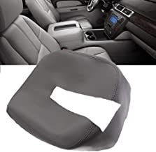 Center Console Armrest Lid Cover for Chevy Silverado, Avalanche, Tahoe, Suburban, GMC Sierra, Yukon 07-13 (t The Leather Part Only) Grey