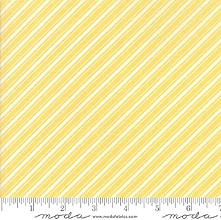 United Notions & Moda Fabrics Fig Tree Quilts Ella and Ollie Quilt Fabric Bias Ticking Stripe Style 20306/19 Daisy