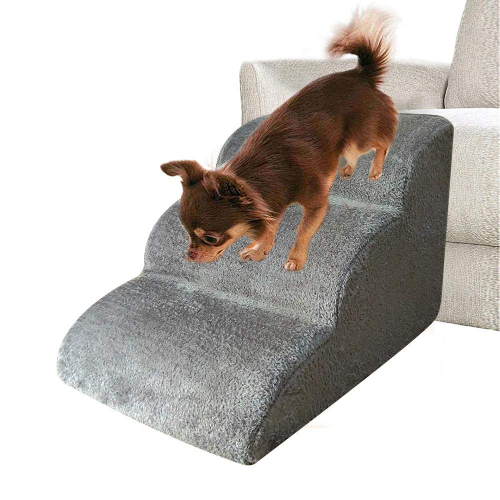 Pasos para Mascotas Escalera para escaleras de Perro Protable Escalera de Cama Antideslizante Cubierta Acolchada Suave para Perros Gatos: Amazon.es: Hogar