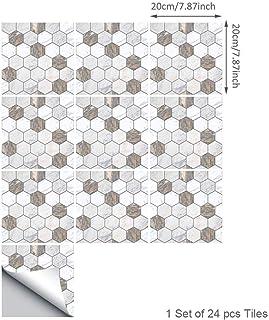 Topmail 24 Piezas Azulejos Adhesivos Suelo 20x20cm Azulejos