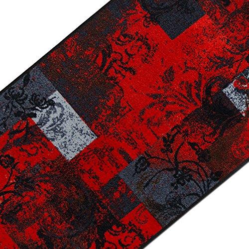 casa pura Teppichläufer mit modernem Design in brillianten Farben | hochwertige Meterware, gekettelt | Kurzflor Teppich Läufer | Küchenläufer, Flurläufer (80x200 cm)