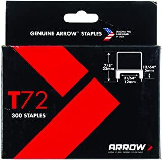 Arrow Fastener 721168 13/64-Inch wide and 31/64-Inch High Insulated Staple, 300-Pack