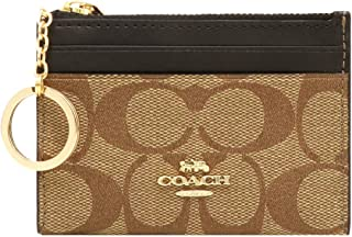 Coach Mini Skinny ID Key ring Coin Case Signature Wallet