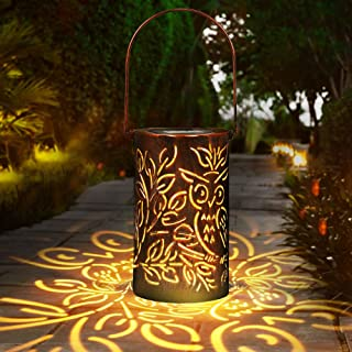 Solar Garden Light, infinitoo LED Solar Lantern, Lights Moroccan Style Solar Silhouette Hanging Lights LED Garden Outdoor ...