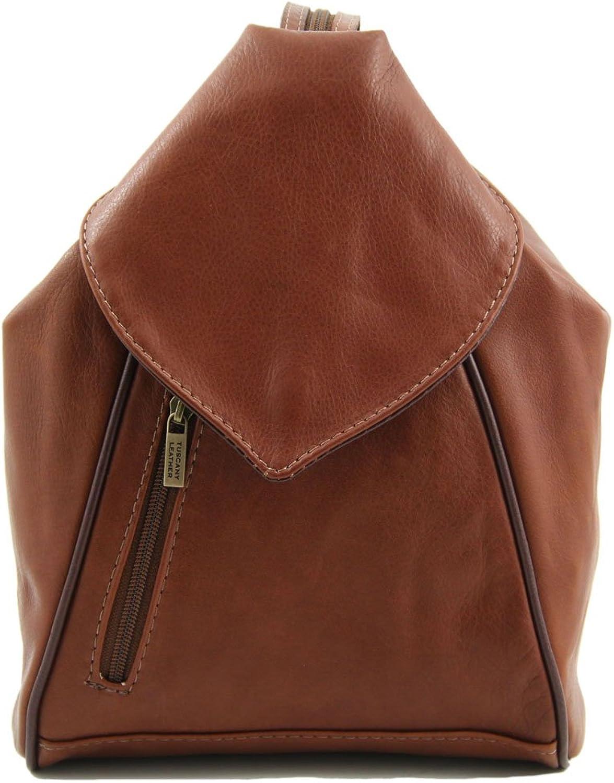 Tuscany Leather , Damen Rucksackhandtasche Braun braun B00E0PRC1G