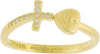 Aurora Women's Silver Gold Ring