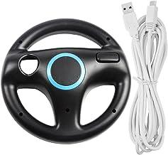 AFUNTA Volante para Wii U y Wii con Cable de Carga, Racing Wheel Case para Mario Kart 8 Games, con Cable de Cargador USB d...