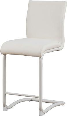 Amazon.com: Campton Cinzia Silla de comedor en color blanco ...