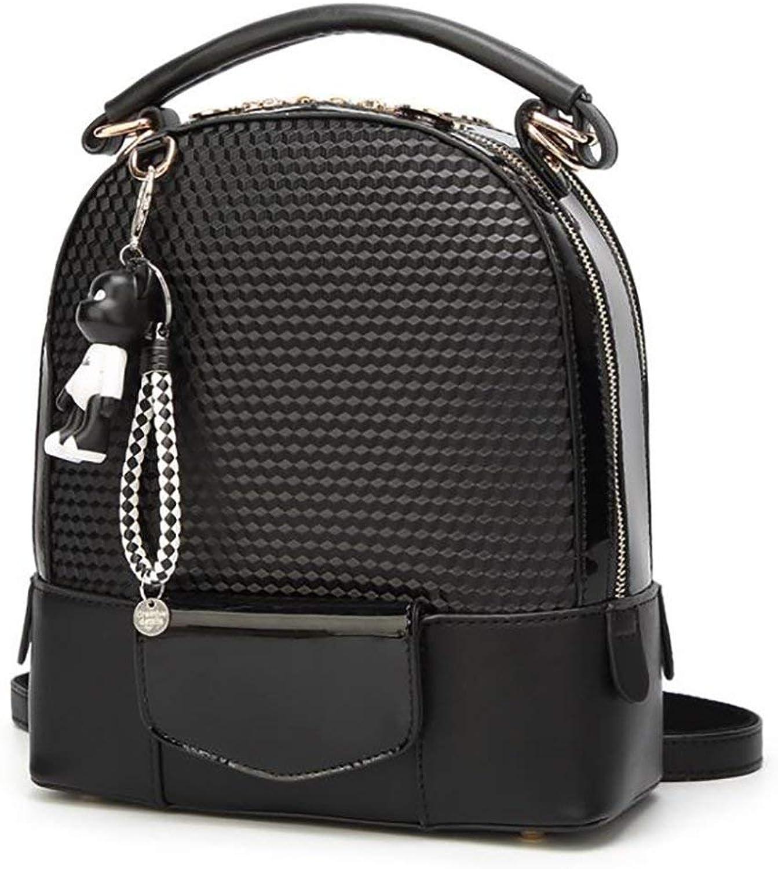 Nvfshreu Daypacks Erwachsene Vintage Stylisch Backpack Fashion Damen Tasche Casual Multifunktions Einfacher Stil Leder Rucksack Handtasche Pu 24 5  12  28Cm (Farbe   Colour, Größe   One Größe)