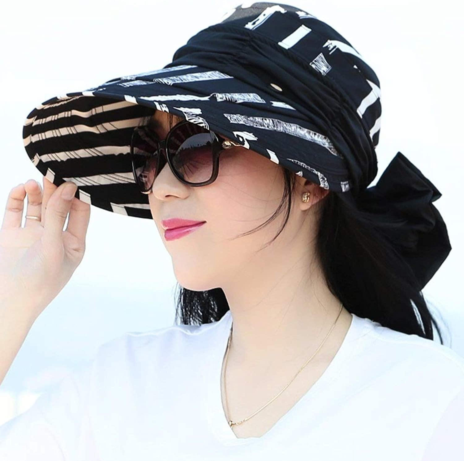 I want to fly freely Summer Hat, Sun Hats Women with Veil WindProof Rope Velcro Adjustment Foldable Packable Outdoor Beach, 4 colors Optional Summer Sun hat