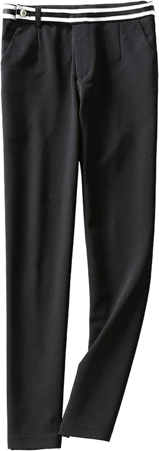 Luandge Women's Ease Into Comfort Straight Leg Trouser with Tummy Control High Waisted