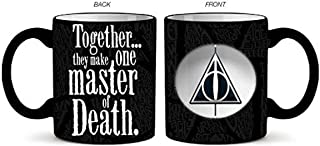 Silver Buffalo Harry Potter Master of Death Ceramic Mug with Spinner, 20-Ounce, black