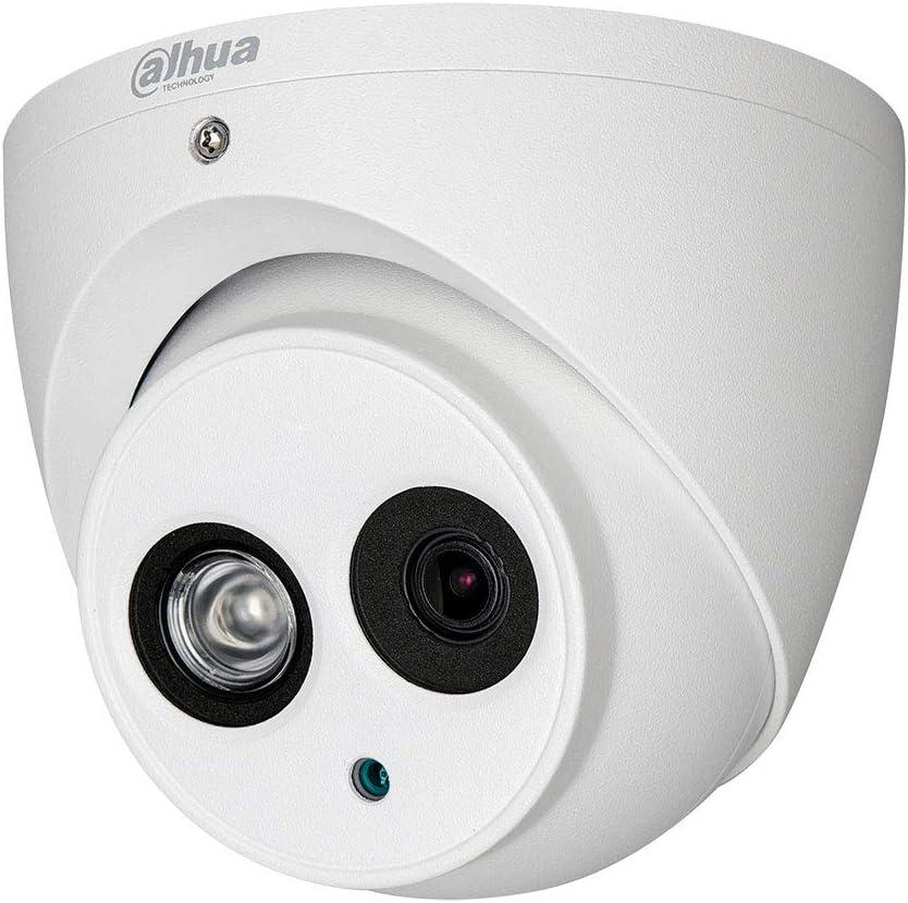 Dahua Technology HAC-HDW1200EMP - Cámara domo HDCVI 4 en 1 (2M, 1080P, IR 50m, 2.8mm, IP67) color blanco