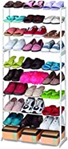 kytaste Shoe Rack Easy Assembled Fabric Shoe Tower Stand Sturdy Shelf Storage Organizer Cabinet